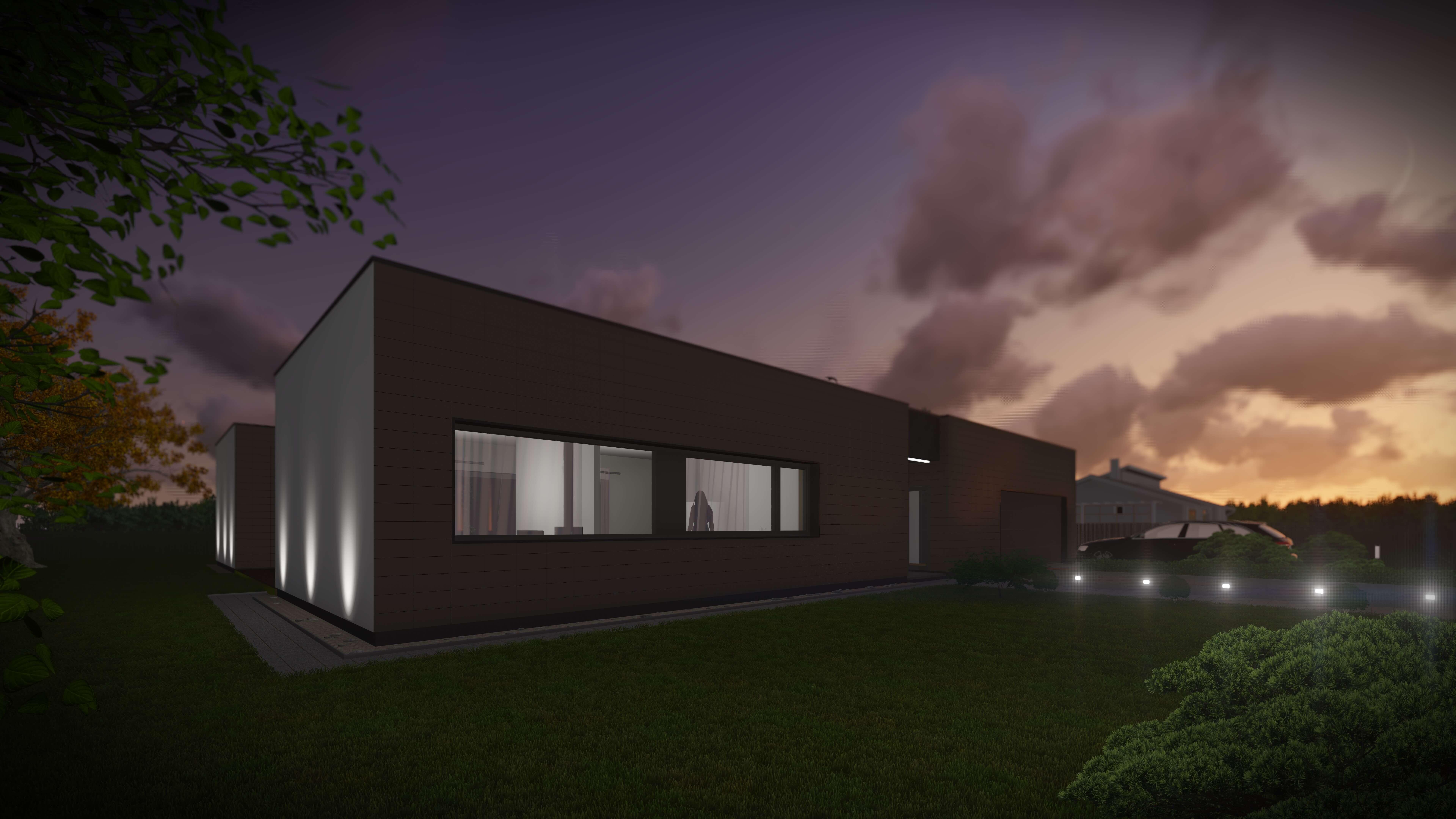 Slėnio g. 2, Stančiuose, gyvenamojo namo projektas