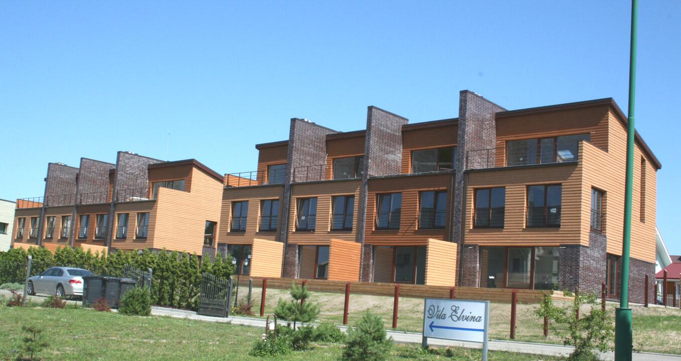 Vanagupės g. 6A, Palangoje, keturių butų gyvenamojo namo projektas
