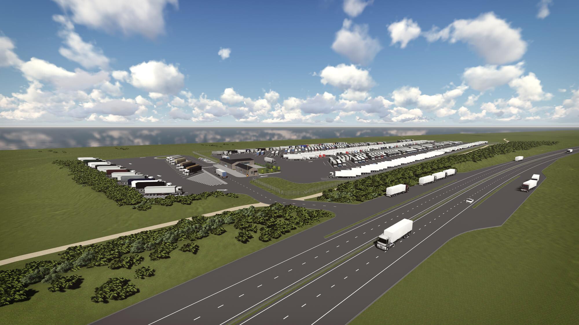 Transporto aikštelės Didžiojoje Britanijoje projektiniai pasiūlymai