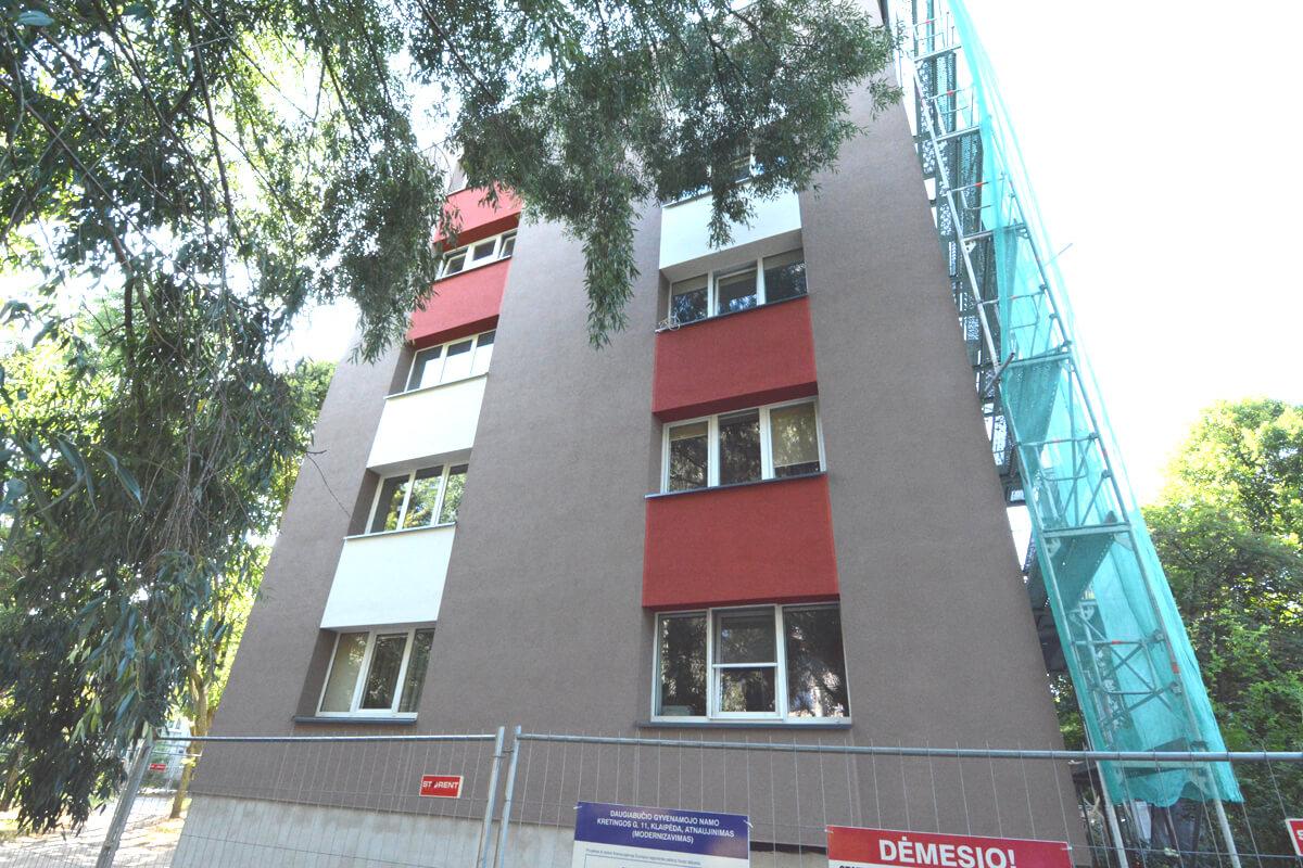 Kretingos g. 11, Klaipėdoje, daugiabučio modernizacija