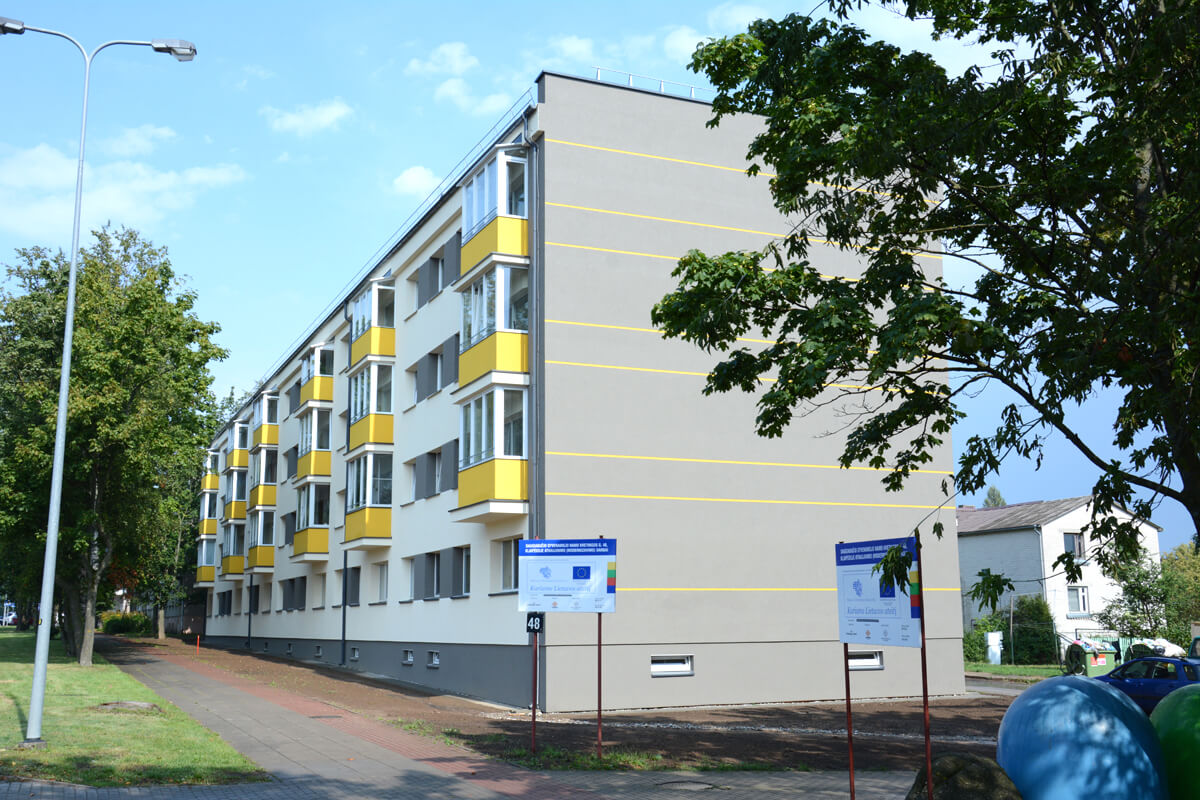 Kretingos g. 48, Klaipėdoje, daugiabučio modernizacija