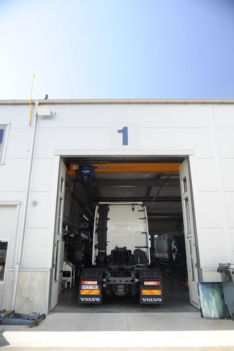 Volvo autoserviso statybos projektas