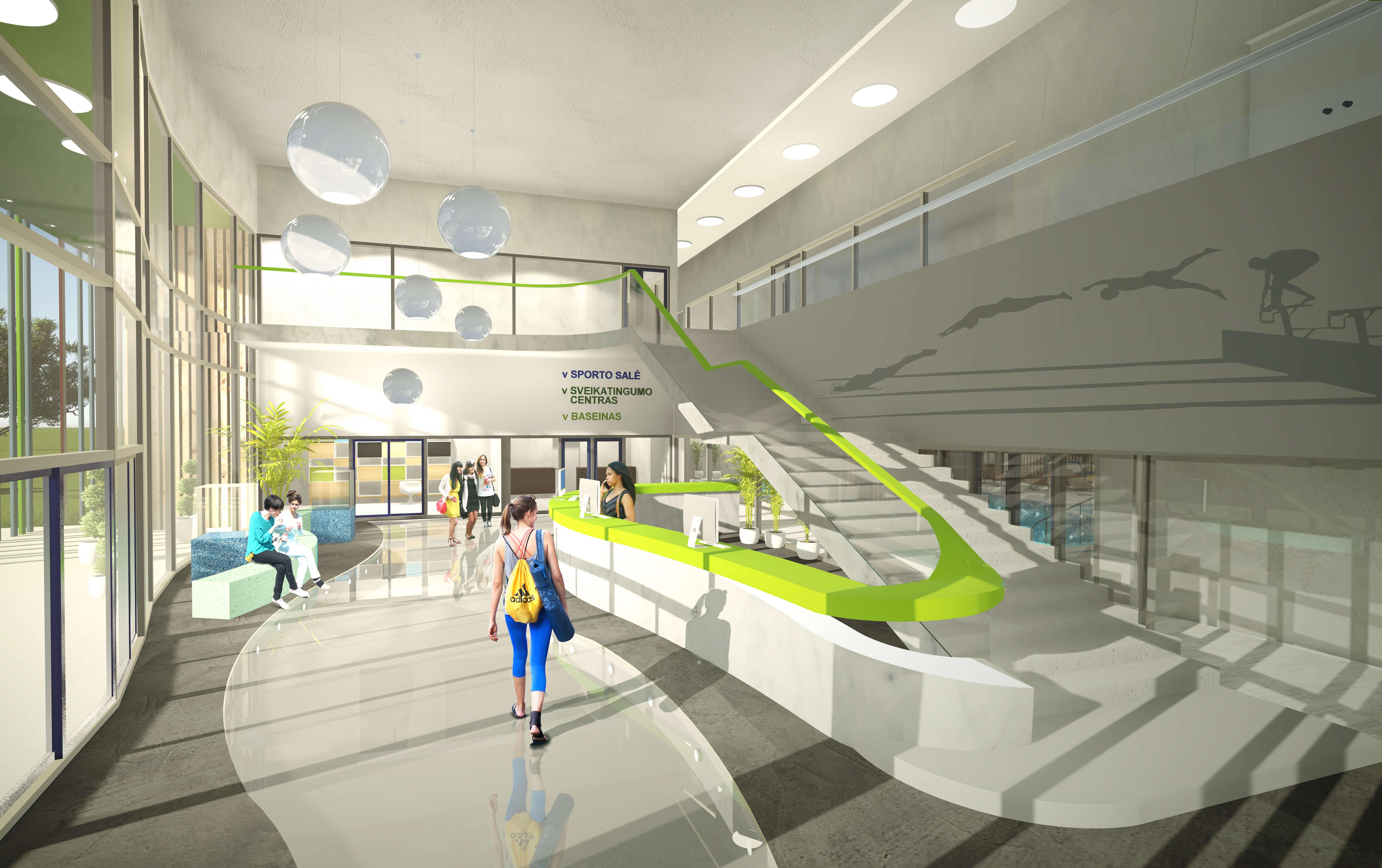 Palangos miesto baseino su sveikatingumo centru Kretingos g. 23, Palangoje, projektinis pasiūlymas