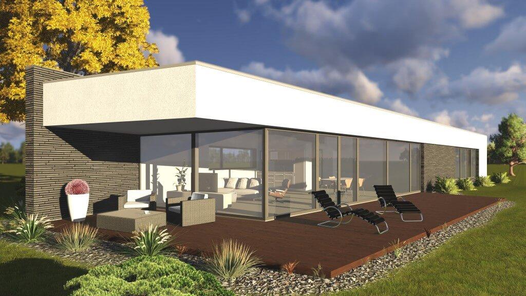 Kuršių g. 1C, Slengiuose, gyvenamojo namo projektas